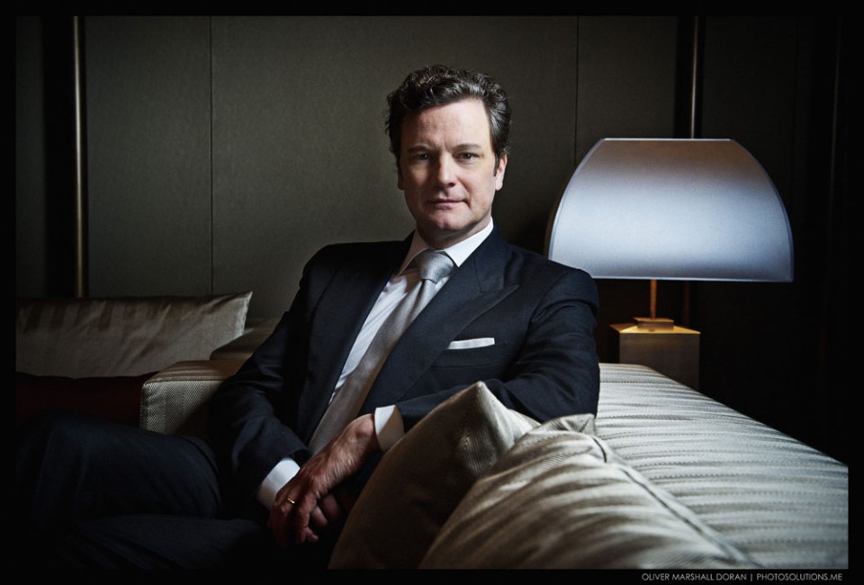 Private shoot of Colin Firth at Armani Hotel