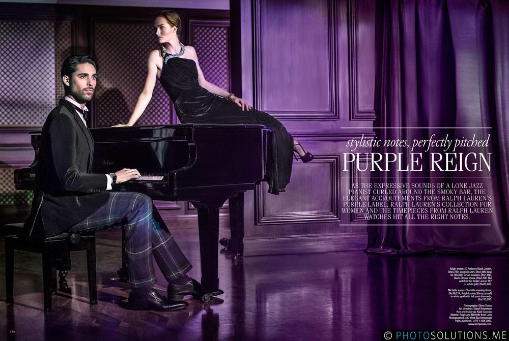 Purple Reign for Ralph Lauren
