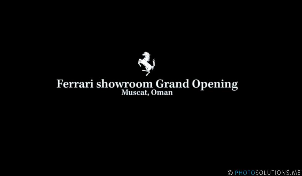 Ferrari Showroom Grand Opening, Muscat