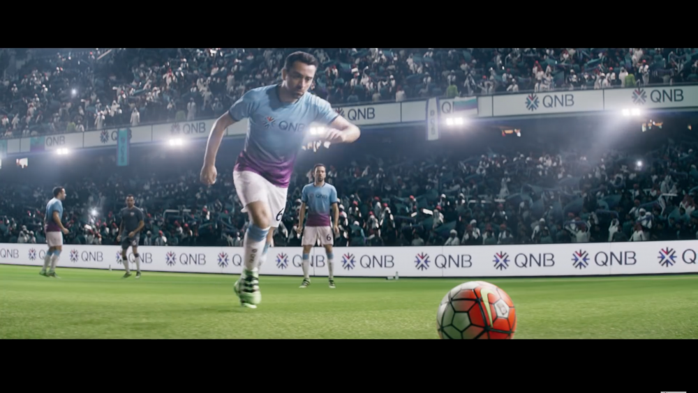 BTS of Qatar National Bank with Xavi